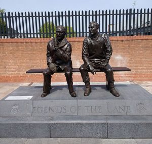 A statue outisde Meadow Lane commemorating two Notts County legends, Jimmy Sirrel and Jack Wheeler