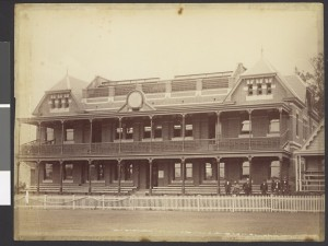 The MCC Members Pavillion, circa 1878-1894, by J.W. Lindt. Photo from State Library of Victoria Collection.