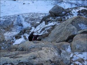 The accident area - Ngole glacier, Tashi Lapso Pass