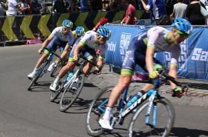 Alex Edmondson and Orica team at Mitchelton Bay Cycling Classic.