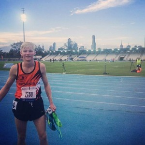 After my semi-final race at Victorian State Championships. I came 3rd and qualified for the final the following day.