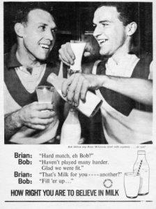 Brian Bobby milk advertisement