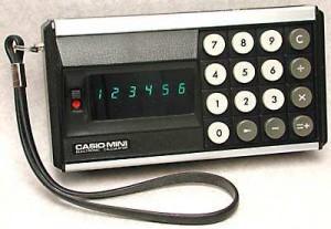The Casio Mini circa 1972 (with unexplained wrist-strap)