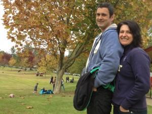 Ian Hindmarsh and wife Lisa.