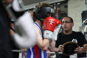 Murray Thompson with young fighter