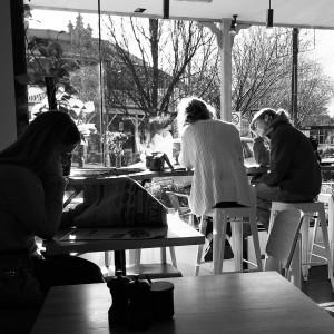 Satdee morning brekky at Cherrywalk Cafe, Bright
