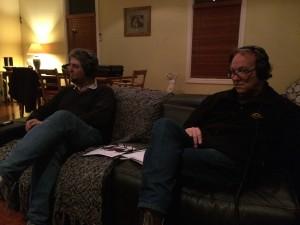 John Harms and Matty Q, chatting with Warwick Green