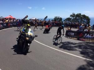 Chris Froome dominates the climb