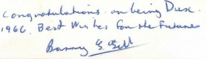 Lucia Nardo Barry Gill signature