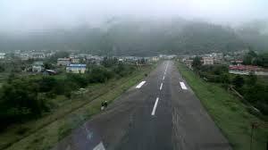 Lukla's famous sloping runway