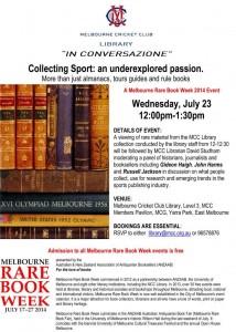 MCC RareBookWeek 23-7-2014