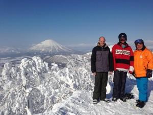 (L-R) Mark, Zach and John. Rusutsu, Hokkaido, Japan. (pic Yoshi Imagawa)