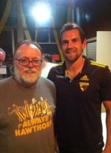 Rick Kane with Luke Hodge