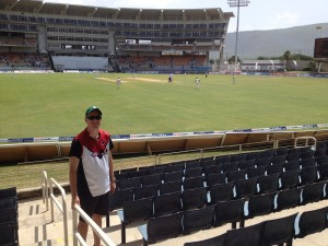 J Ryan in the Headley Stand, Day 4