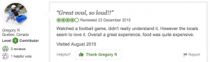 Review of Adelaide Oval from TripAdvisor