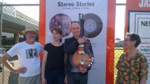 Vin (left), with Stereo Stories colleagues Zoe, Stephen and Julie.