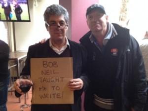 Sydney Lunch 2014 - JTH Rulebook Bob Neil sign