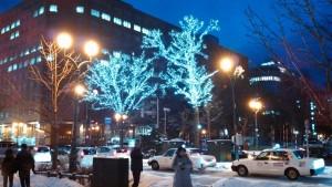 Winter Illumination, Odori Park in Sapporo City Centre