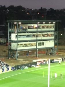 The new Darren Forssman Stand at Kardinia Park, a sleek design of modern stadia