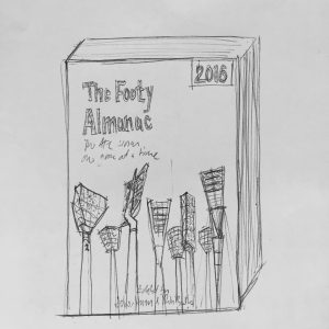 Footy light towers. Biro on scrap paper.
